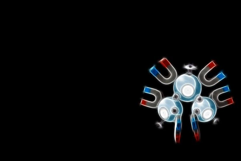 Pokemon black background magneton Wallpaper