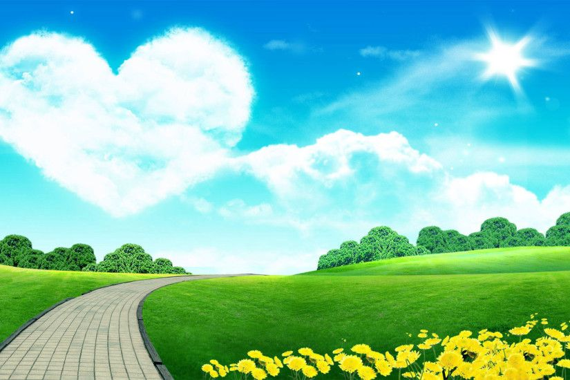 Beautiful Heart Nature Love And Nature Wallpaper Big Heart On The Sky – Love  The Beautiful