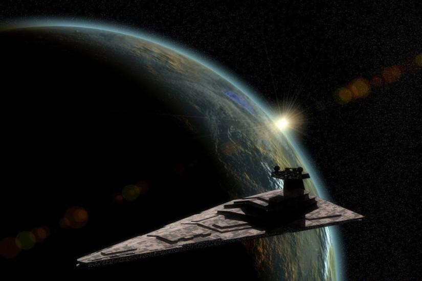 Star Wars outer space stars planets artwork Star Destroyer wallpaper .
