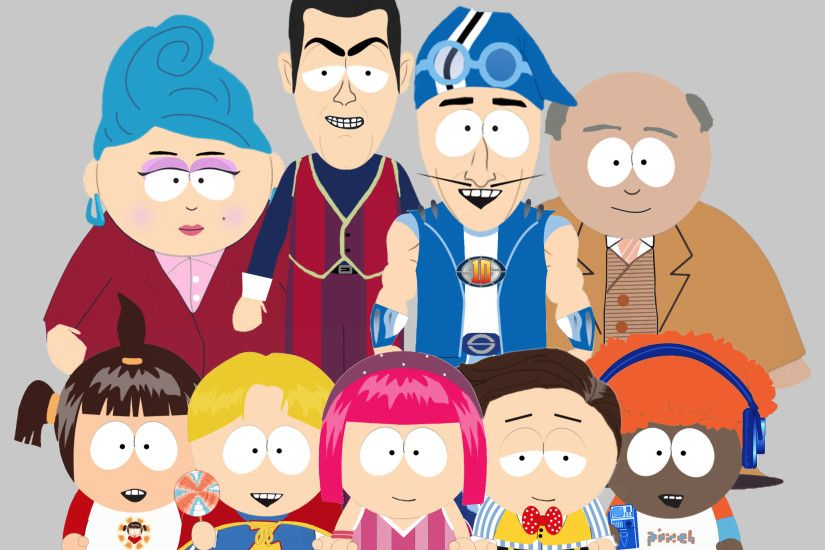 Lazytown characters rendered South Park style. #lazytown #southpark  #crossover #fanart