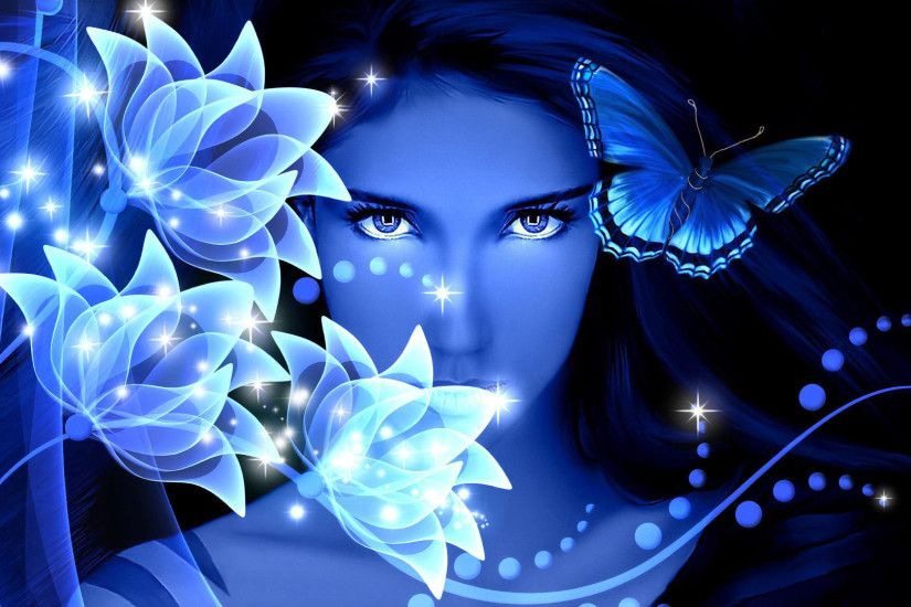 blue butterfly on white stones desktop background wallpapers hd.