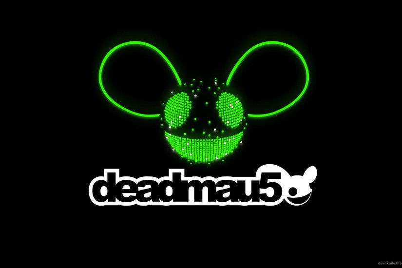 Deadmau5 Green Sparkles White logo picture
