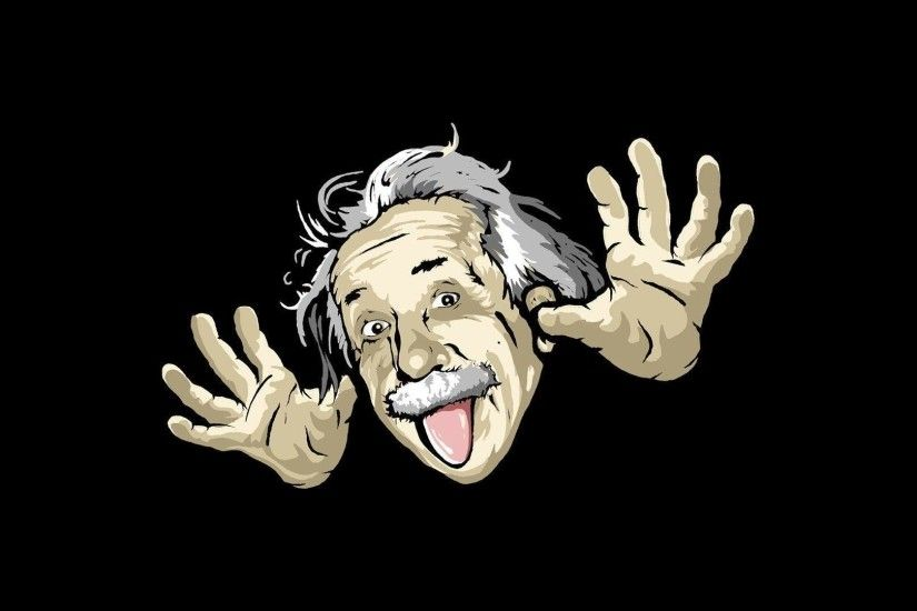 Albert Einstein Funny Face Wallpaper - Funny Wallpapers - Wholles.