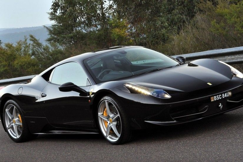 ... wallpapers Ferrari 458 italia black car pictures desktop ...