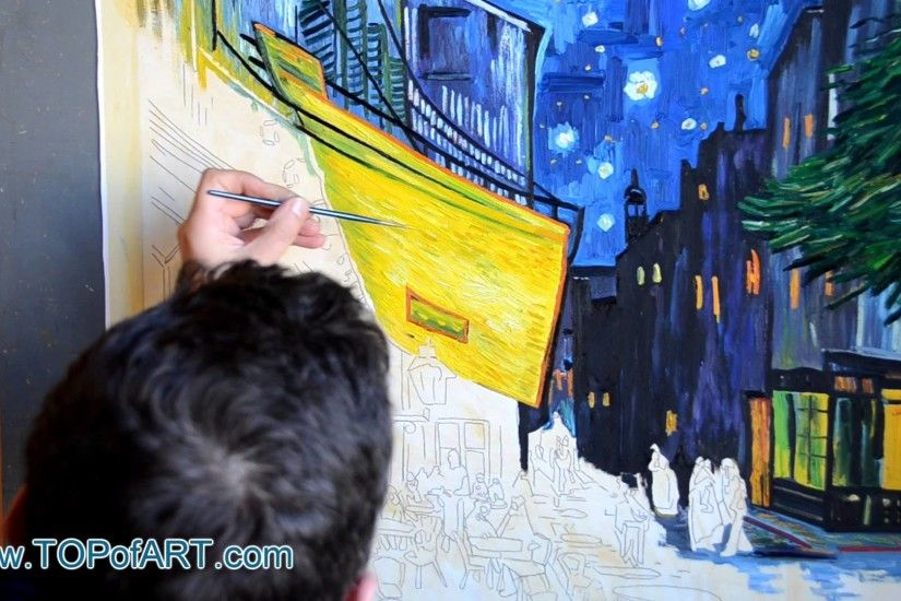 Vincent van Gogh - Cafe Terrace at Night | Painting Reproduction - YouTube
