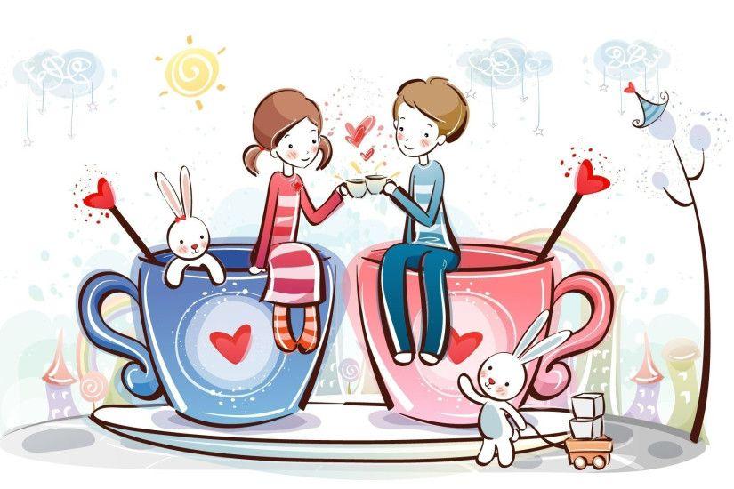 Love Cartoon Wallpaper
