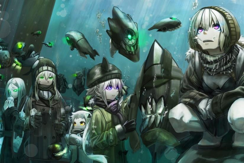 Preview wallpaper wo-class, kantai collection, anime, characters 1920x1080