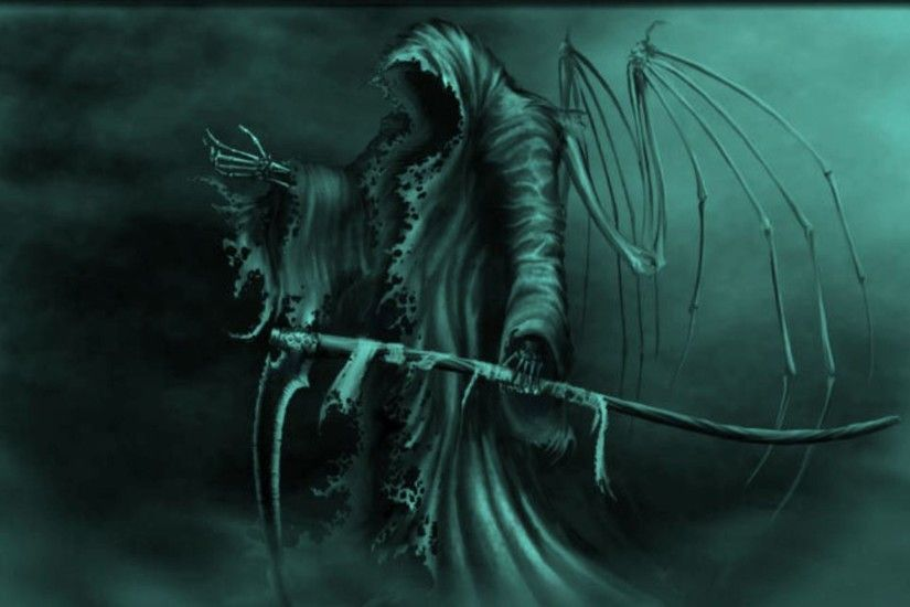 Dark - Grim Reaper War Scythe Fantasy Wallpaper