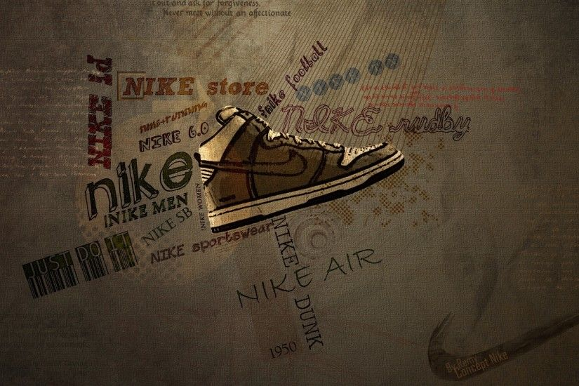 Preview wallpaper nike, concept art, brand, sport, shoes 1920x1080