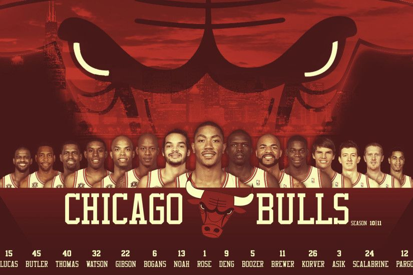 Chicago Bulls0 11 Roster Widescreen Wallpaper BasketWallpapers.com