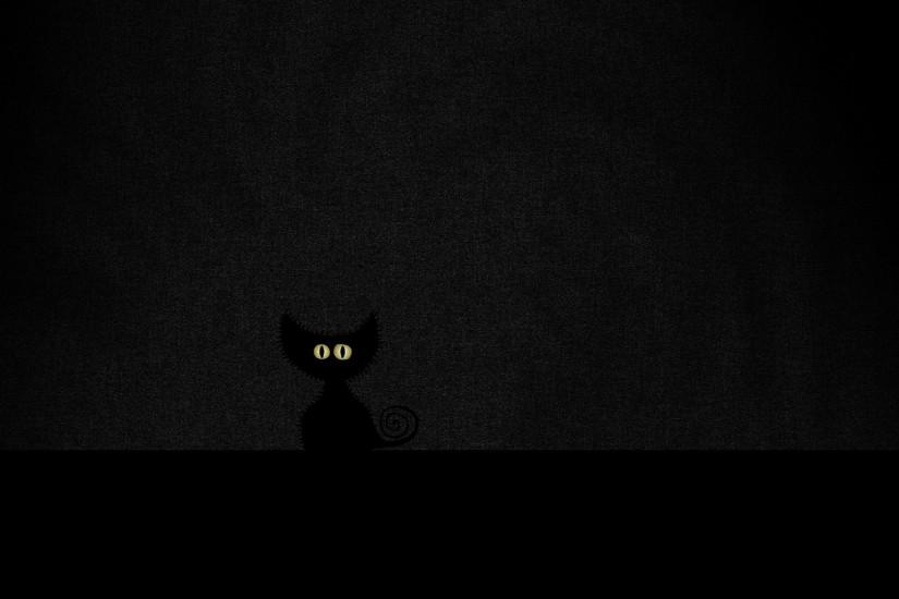 1920x1080 Wallpaper eyes, minimalism, black, cat