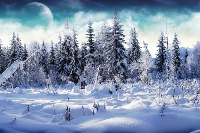 beautiful snow background 1920x1080