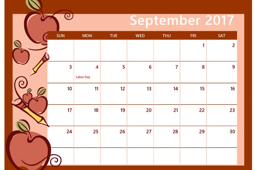 Free Calendar Wallpaper September : Desktop wallpapers calendar september ·①