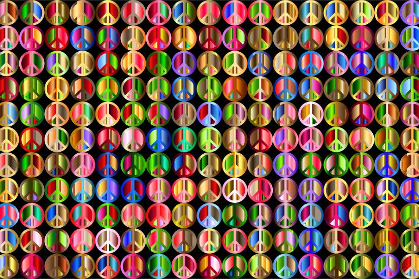 Clipart - Prismatic Peace Sign Background 5