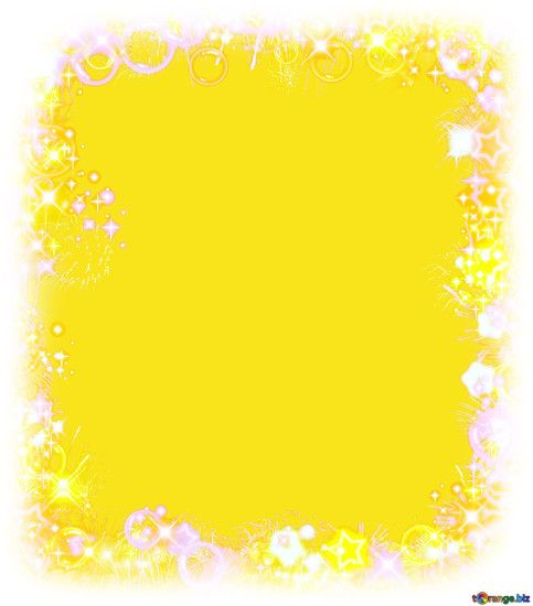 Frame multi-colored yellow background