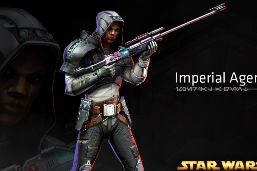 2560x1080 Wallpaper star wars the old republic, imperial agent, character,  gun