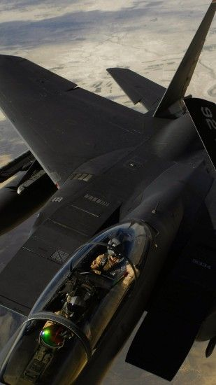 1440x2560 Wallpaper f-15e strike eagle, us air force, aircraft, refueling