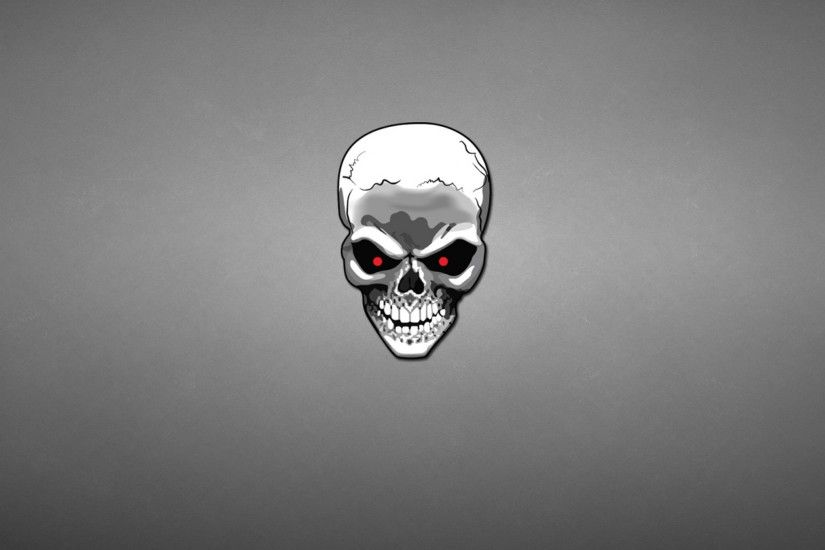 2048x2048 Wallpaper skull, minimalism, art, gray