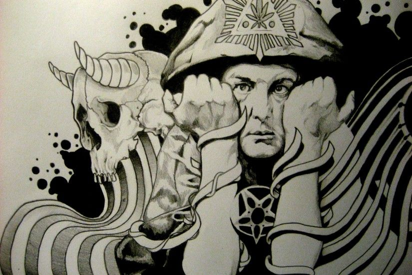 Aleister Crowley Occult Satanic Satan Psychedelic Wallpaper At Dark  Wallpapers