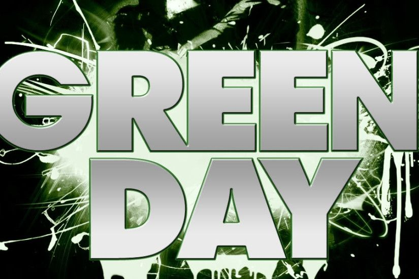 3840x1200 Wallpaper green day, letters, darkness, sign, kiss