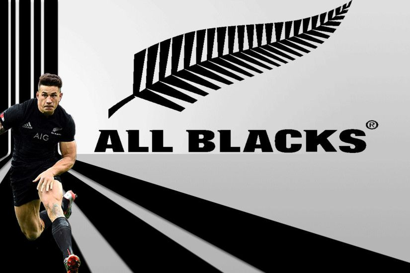 All Blacks rugby - Sonny Bill Williams - Poster created by Gordon Tunstall  using Adobe Photoshop