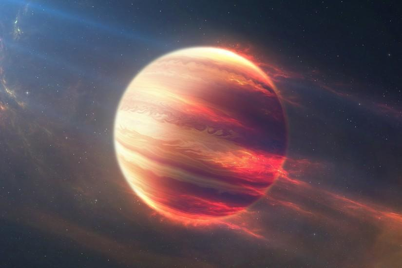 Space Fire Planet, Exoplanet, Planet, space, stars (horizontal) ...