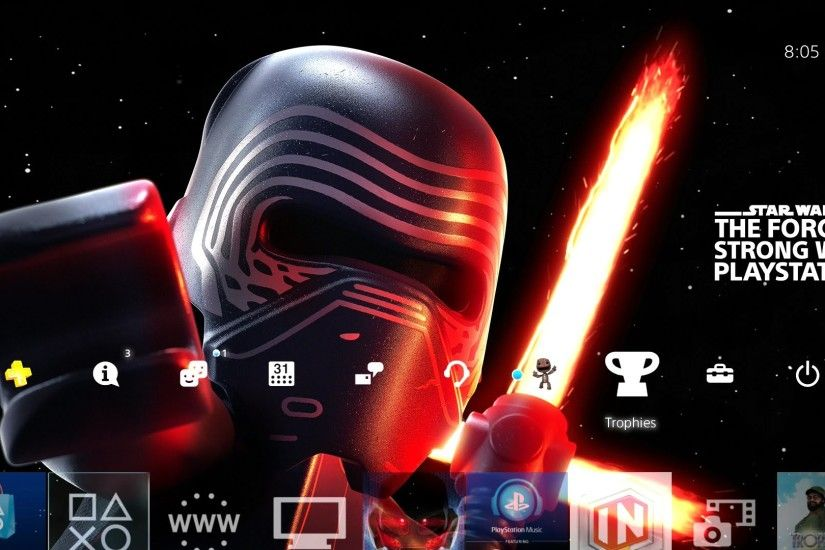 LEGO Star Wars Kylo Ren Playstation Theme