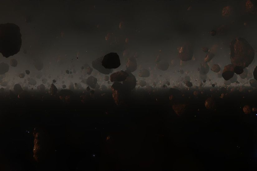 Elite: Dangerous asteroid wallpaper for 2x and 3x FullHD desktops