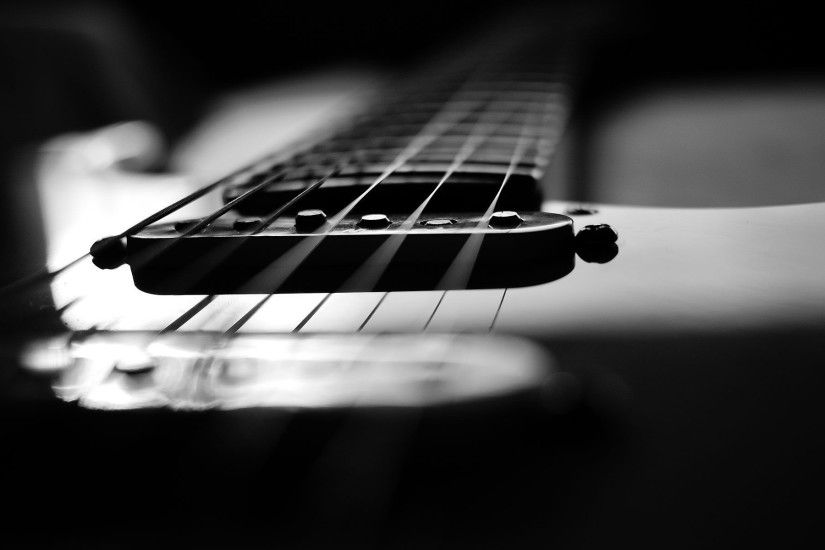 Gallery for - black and white pictures of guitars