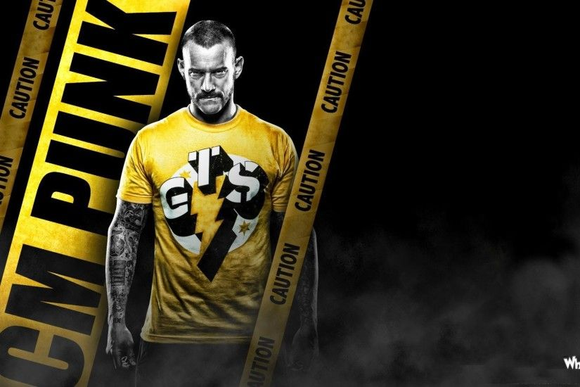 ... CM Punk Caution With Yellow T-Shirt HD WWE Wallpaper ...