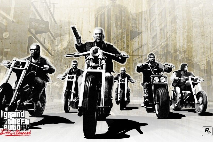 Wallpaper Gta 4 lost and damned, Grand theft auto 4 lost and damned, Bikers,  Gang, Motorcycles