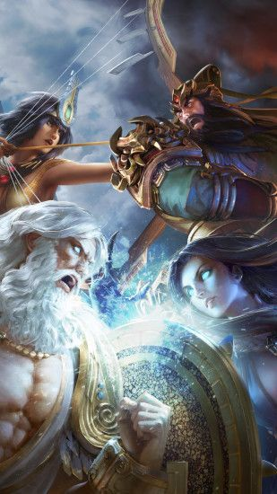 Download Preview Smite God Fight Wallpaper