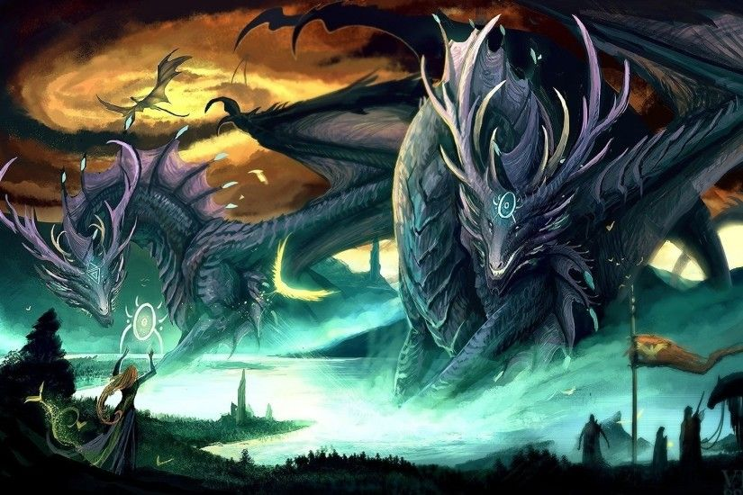 Dragons Giant Fantasy Art Creatures Wallpaper At 3d Wallpapers
