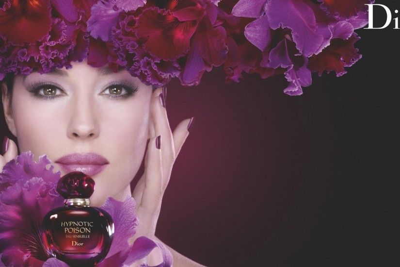 Monica Bellucci, Commercial, Portrait, Flowers, Advertisements, Dior HD  Wallpapers / Desktop and Mobile Images & Photos
