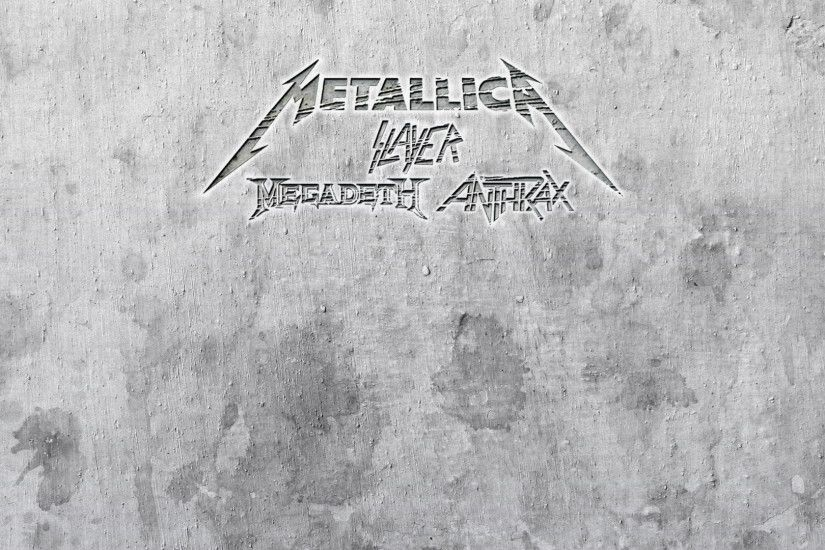 METALLICA thrash heavy metal slayer anthrax megadeth .