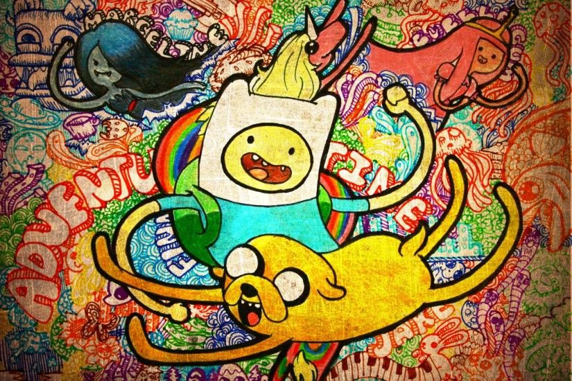 Wallpaper adventure time finn and jake cartoons