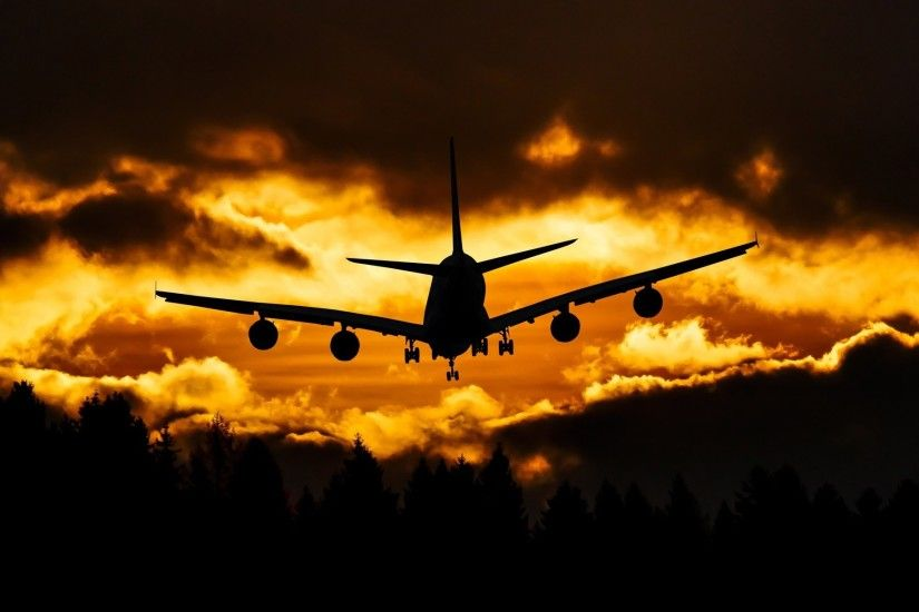 sunset-time-airbus-in-sky-marvelous-wallpapers