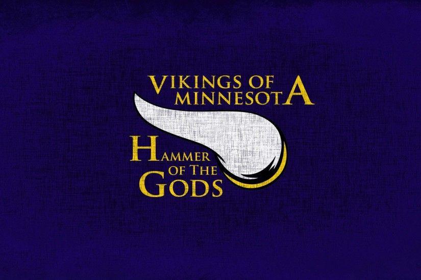 Vikings Logo Wallpaper ·①