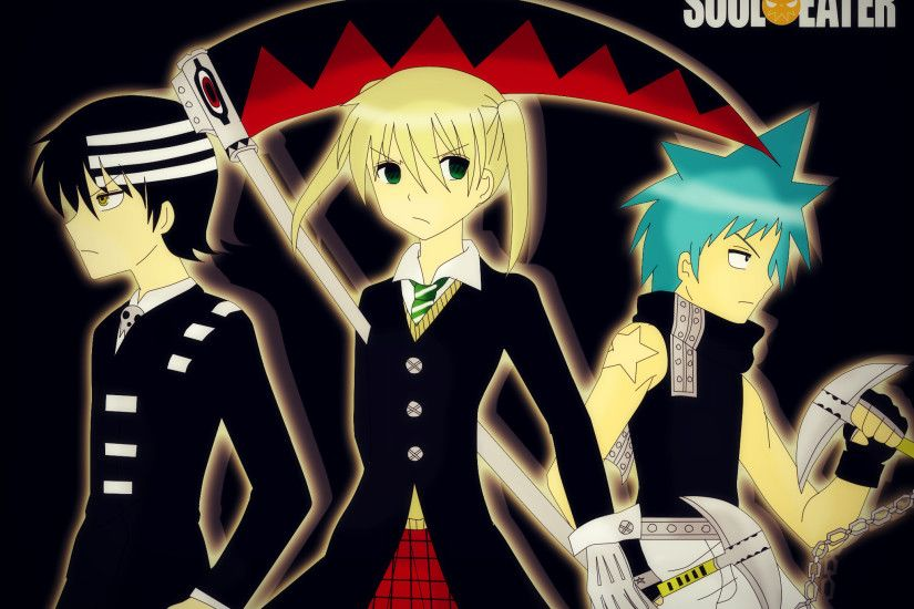 ... [Soul Eater] Maka,Death the Kid and Black Star by MiyuSakumaKujo