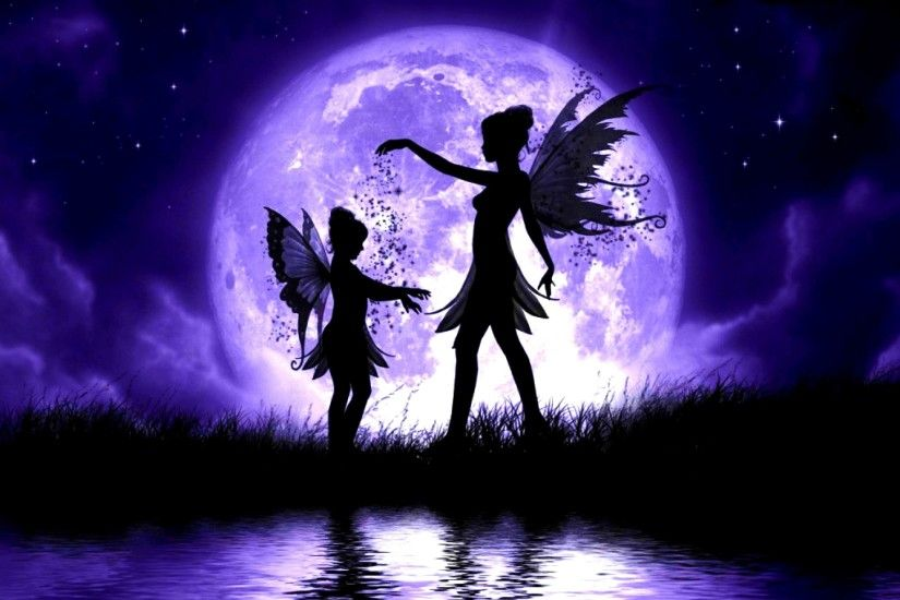 Fairy,fantasy, Tablet, Free, Desktop Wallpapers, Wings, Moon, Download  Girls, Abstract HD Wallpaper