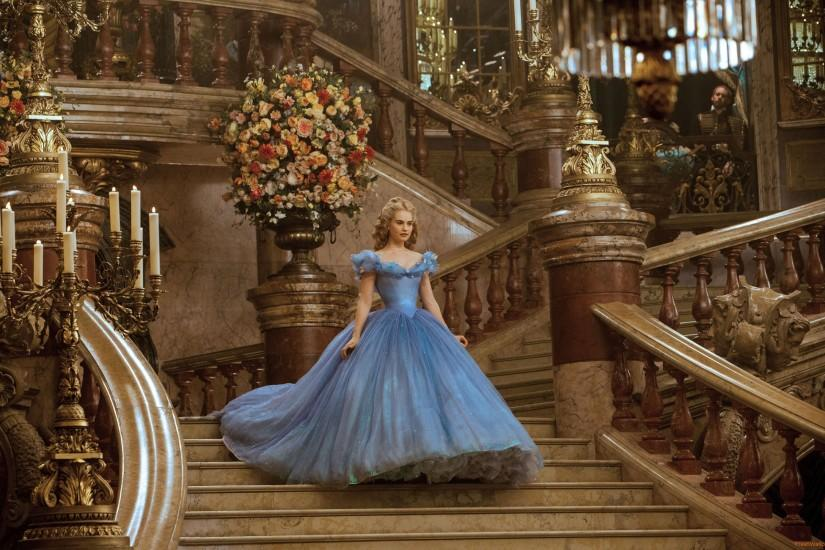 lily-james-in-cinderella-dress Wallpaper: 2560x1600