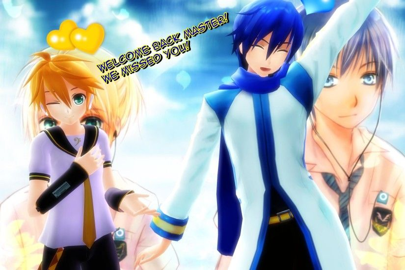 Kaito and Len WALLPAPER by AnimeLuvr15 Kaito and Len WALLPAPER by  AnimeLuvr15