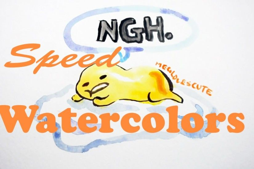 Gudetama Watercolors(Speed Paint)