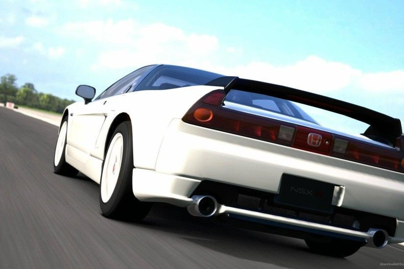 2002 White Honda NSX Type R on the road picture