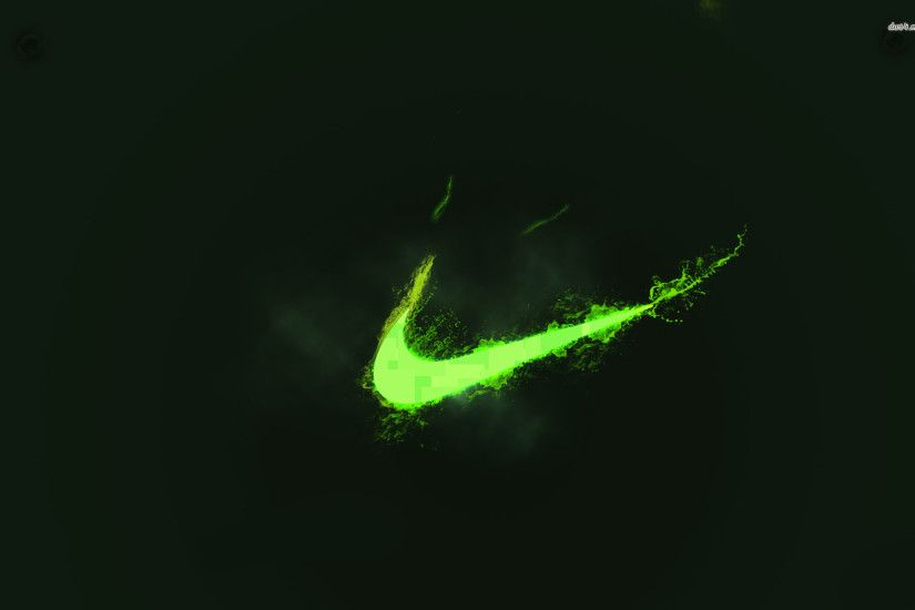 Neon Green Nike Logo Wallpaper Hd For Desktop | cute Wallpapers