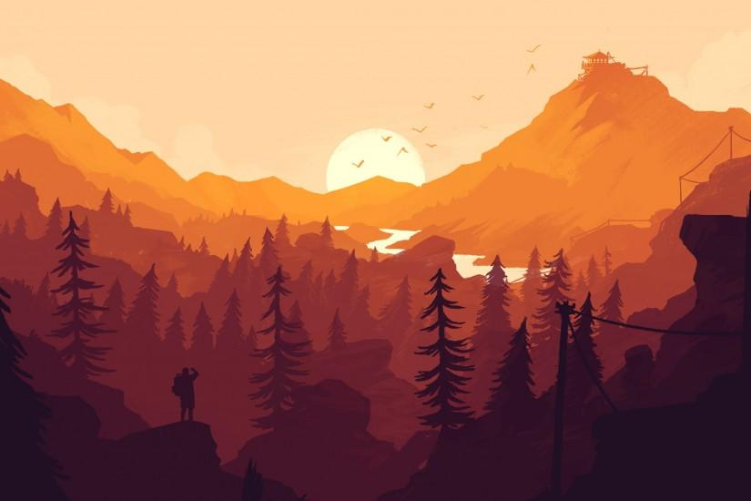 firewatch wallpaper 3440x1440 mac