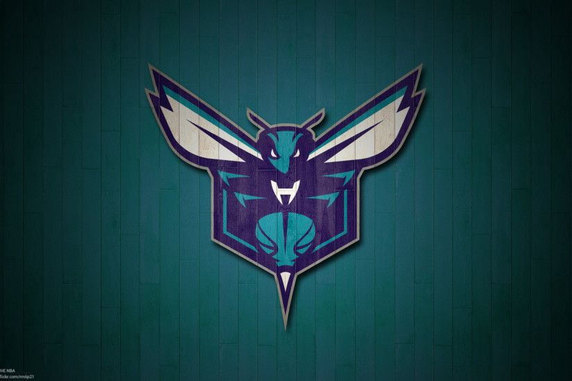 NBA 2017 Charlotte Hornets hardwood logo desktop wallpaper