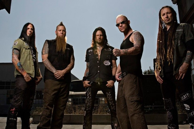 3840x2160 Wallpaper five finger death punch, tattoo, iroquois, beard, sky
