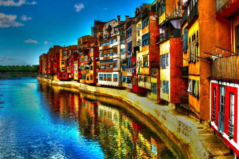 Preview wallpaper italy, river, building, hdr 3840x2160