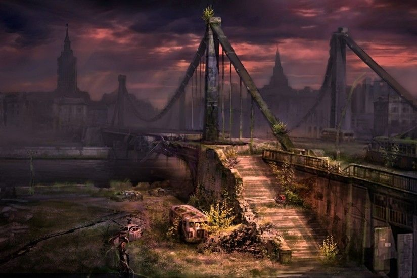 abandoned dark city background